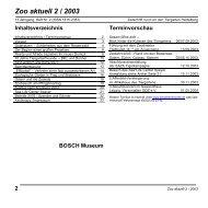 Zoo aktuell 2/2003 - Tiergartenfreunde Heidelberg eV
