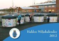 Halden Miljøkalender 2012 - Rokke Avfallsanlegg