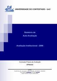 Relatório de Auto-Avaliação Avaliação Institucional - 2006 - UnC