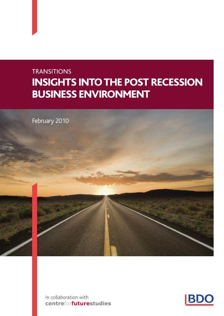Insights into the post recession business environment - UK.COM