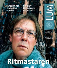 LUM Nr 4 - Humanekologi Lunds universitet