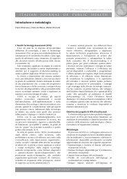 ITALIAN JOURNAL OF PUBLIC HEALTH Introduzione e ... - Ijph.it