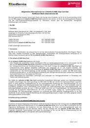 Allgemeine Informationen zur airberlin & NIKI Visa Card der ...