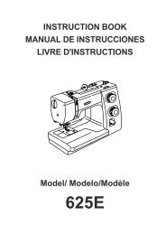 INSTRUCTION BOOK MANUAL DE INSTRUCCIONES ... - Janome
