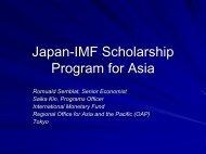 Japan -IMF Scholarship Program for Asia