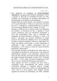 DESAFIOS GLOBAIS ÀS COMUNIDADES LOCAIS 1 ... - DNA Cascais