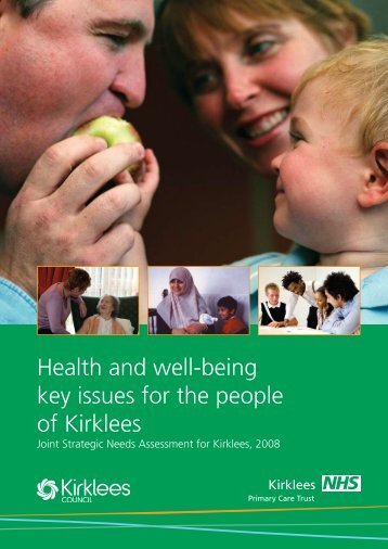 Health and well-being key issues for the people of ... - NHS Kirklees