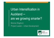 Urban Intensification in Auckland – are we growing smarter?