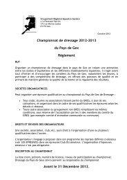 Règlement du championnat de dressage 2012 / 2013 - À propos du ...