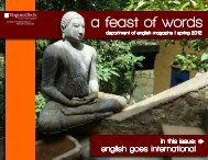 a feast of words - Department of English - Virginia Tech