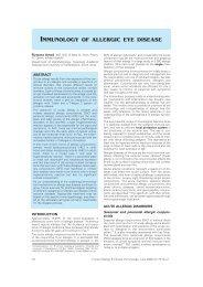 Immunology of allergic eye disease