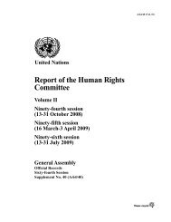 Report of the Human Rights Committee - CCPR-Centre