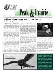 Oct/Nov/Dec 2007 (pdf) - Sierra Club Rocky Mountain Chapter