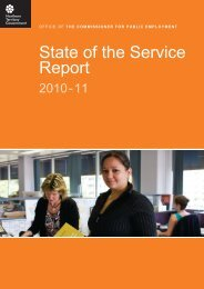 State of the Service Report - Office of the Commissioner for Public ...