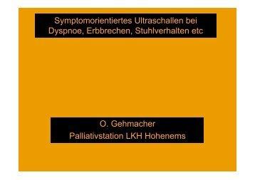 Symptomorientiertes Ultraschallen bei Dyspnoe, Erbbrechen ...