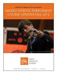 Fall semester 2012 recap - North Yarmouth Academy
