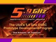 The USA's 5.9 GHz DSRC Prototype Development Program