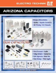 Download product catalog, pages 1-13 (pdf) - Arizona Capacitors