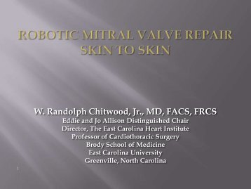 Robotic Mitral Surgery Skin to Skin