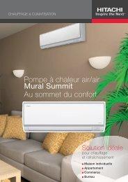 Pompe à chaleur air/air Mural Summit Au sommet du confort