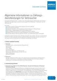 Allgemeine Informationen zu Zahlungs - Hypo Landesbank Vorarlberg