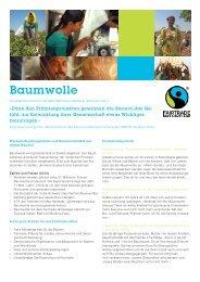 Factsheet Baumwolle PDF, 798 KB - Max Havelaar Switzerland