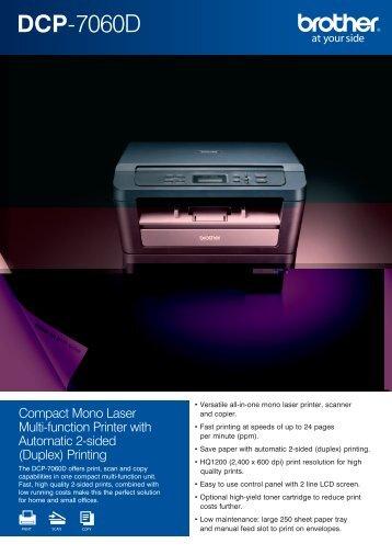 DCP-7060D - Printer Supermarket