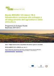 Bando MISURA 125 Azioni 1B-4 - Rete Rurale