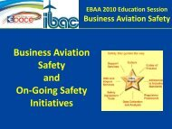 Business Aviation Safety and On-Going Safety Initiatives - eBace