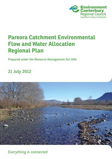 Pareora Catchment Environmental Flow and Water Allocation ...