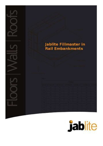 Jablite Fillmaster in Rail Embankments