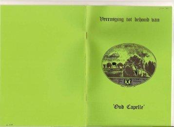 Nieuwsbrief 1985 01 (januari) - Historische Vereniging Capelle aan ...