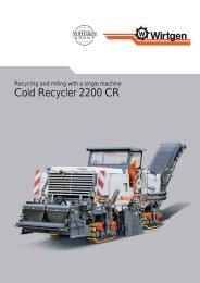 Cold Recycler 2200 CR - Wirtgen GmbH