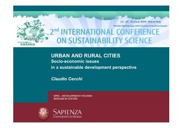 URBAN AND RURAL CITIES - ICSS 2010
