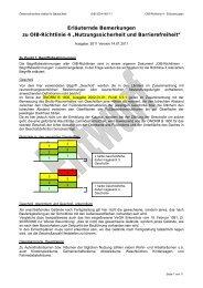 """Erläuternde Bemerkungen zu OIB-Richtlinie 4 """"Nutzungssicherheit ..."""