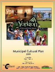 Municipal Cultural Plan - City of Yorkton