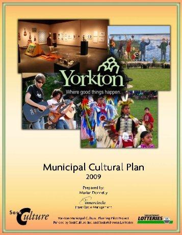 Municipal Cultural Plan - City of Yorkton