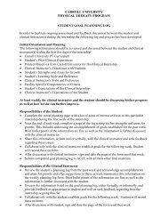 Weekly Goal Planning Log - Carroll University
