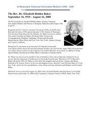 In Memoriam - Unitarian Universalist Association