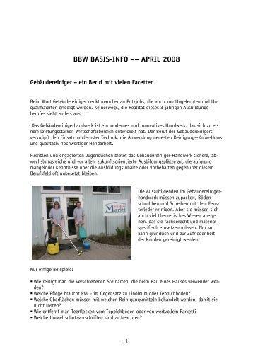 BBW Aktuell 04 2008.pdf - Förderungswerk St. Nikolaus