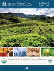 Standardized Ayurvedic Herbal Products and ... - Ayush Herbs Inc.