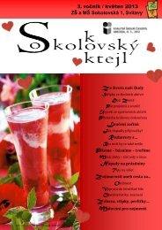 3. ročník / květen 2013 ZŠ a MŠ Sokolovská 1, Svitavy