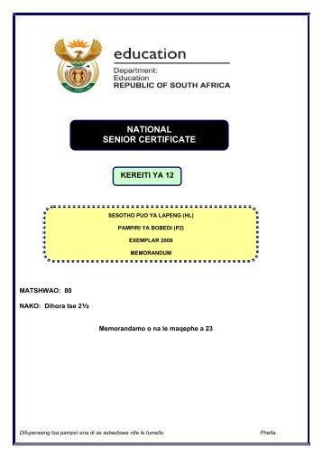 Sesotho HL P2 Exemplar Memo 2009.pdf