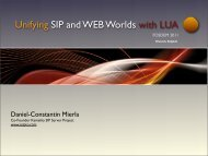 Unifying SIP and WEB Worlds with LUA - Kamailio