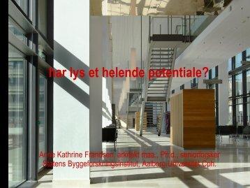 Helende Arkitektur - Lys