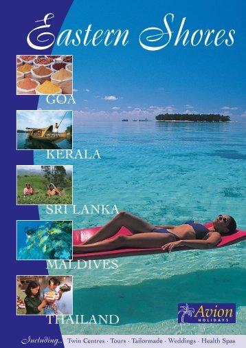 GOA KERALA SRI LANKA MALDIVES THAILAND - Avion Holidays