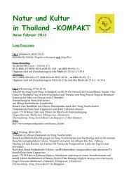 Natur und Kultur in Thailand -KOMPAKT Reise ... - bangkok-touren