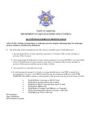 Acceptable Forms of ID - Arizona Department of Liquor Licenses ...