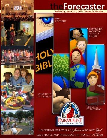 Jan 12: Cover Story - G-Force - Fairmount Christian Church