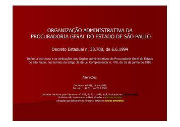 Órgãos Administrativos - Procuradoria Geral do Estado de São Paulo
